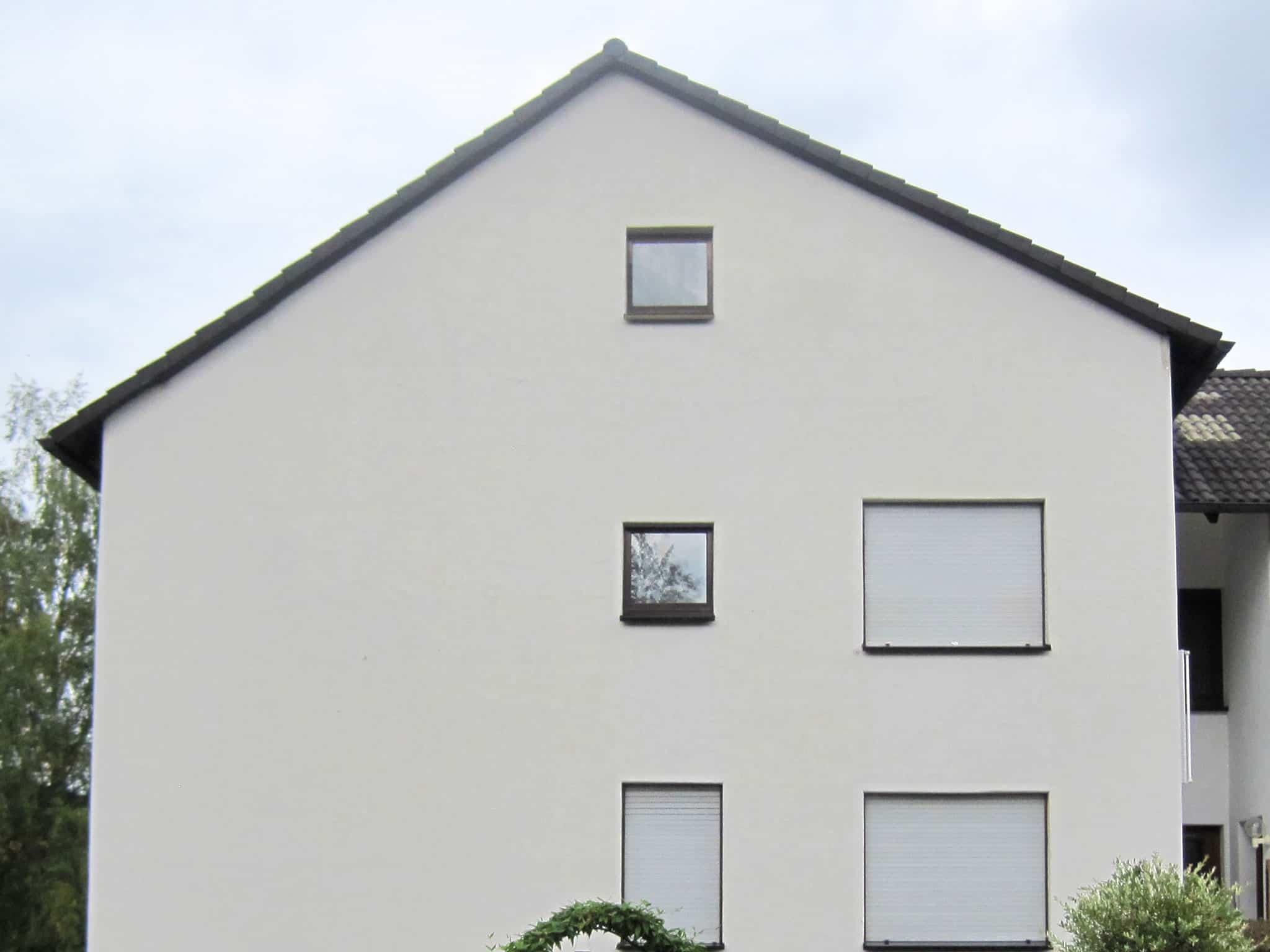 gereinigte Hausfassade mit cleanON